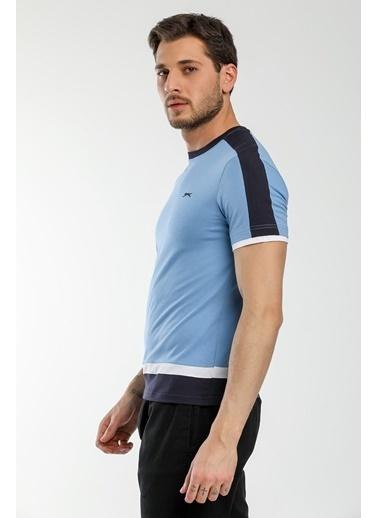 Slazenger Slazenger MASS Erkek T-Shirt Sarı Mavi